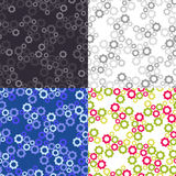 Seamless geometric patterns with gears Stock Images