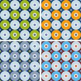 Seamless geometric patterns with gray circles. Stock Photos