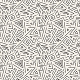 Seamless geometric patterns in memphis style. Fashion 80-90s. Stock Photos