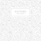 Seamless geometric patterns in memphis style. Fashion 80-90s. Hand drawn design.White and gray background Vector Illustration
