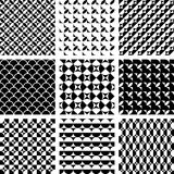 Seamless geometric patterns in op art design. Royalty Free Stock Images