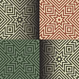 Seamless geometric patterns in the retro colors Royalty Free Stock Images