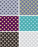 Seamless geometric patterns Stock Photo