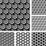 Seamless geometric patterns set. Royalty Free Stock Images