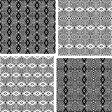 Seamless geometric patterns set. Stock Photos