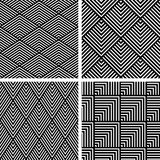 Seamless geometric patterns set. Royalty Free Stock Image