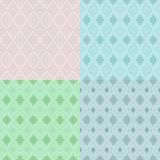 Seamless geometric patterns. Stock Images