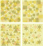 Seamless Geometric patterns Royalty Free Stock Photography