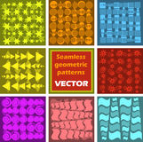 Seamless Geometric patterns Stock Images