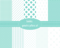 Seamless geometric patterns set. Royalty Free Stock Photography