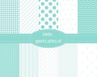 Seamless geometric patterns set. Royalty Free Stock Photography