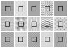 15 Seamless Geometric Patterns Set Royalty Free Stock Photo