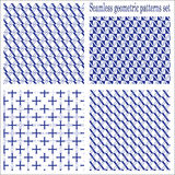 Seamless geometric patterns set royalty free stock photos