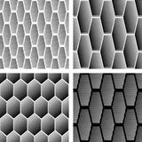 Seamless geometric patterns set. Stock Photos
