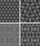Seamless geometric patterns set. Royalty Free Stock Photos