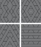 Seamless geometric patterns set. Stock Images