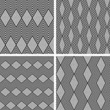 Seamless geometric patterns set. Royalty Free Stock Images