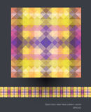 Seamless geometric patterns vector Royalty Free Stock Image