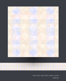 Seamless geometric patterns vector Stock Photography