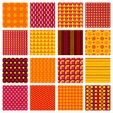 Seamless geometric patterns Stock Photography