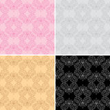 Seamless geometric patterns - vector set Stock Image