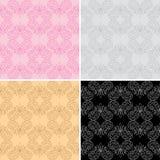 Seamless geometric patterns - vector set Stock Image
