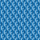 Seamless geometric plastic pattern Royalty Free Stock Photos