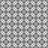 SEAMLESS BLACK AND WHITE GEOMETRIC PATTERN Royalty Free Stock Photos