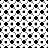 SEAMLESS BLACK AND WHITE GEOMETRIC PATTERN Royalty Free Stock Image