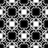SEAMLESS BLACK AND WHITE GEOMETRIC PATTERN Stock Photo