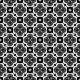 Decorative flower black and white seamless repeated geometric flower pattern background. Textile, books,str. Seamless,geometric repeated,printing,bed sheet stock illustration