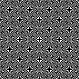 Decorative flower black and white seamless repeated geometric pattern background. Textile, books,str. Seamless,geometric repeated,printing,bed sheet,domestic vector illustration