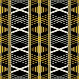 Seamless geometric retro pattern in yellow, black, dusty white c. Seamless geometric retro pattern with wide vertical stripes. Yellow, black, dusty white colors Royalty Free Stock Photography