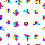 Seamless geometric shape pattern background multi color for paper gift,fabric,backdrop up to your creative. royalty free illustration
