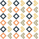 Seamless geometric shapes pattern. Blue, yellow, orange, brown geometric shapes pattern vector illustration