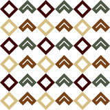 Seamless geometric shapes pattern. Brown, green geometric shapes on a white background Royalty Free Stock Photo