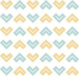 Seamless geometric shapes pattern. On a white background stock illustration