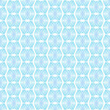 Seamless Geometric Square Pattern in blue and white Stock Photo