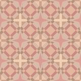 Seamless Geometric Square Tile Background in Soft Skin Colours. For Textile, tile or others background stock illustration