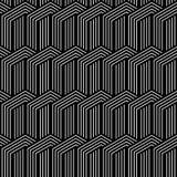 Seamless geometric striped pattern. Stock Photography