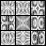 Seamless geometric symmetric designs set. Royalty Free Stock Image