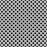 Seamless geometric texture, chessboard, circles, crosses. Vector monochrome seamless pattern. Black & white geometric texture. Modern stylish geometrical Royalty Free Illustration