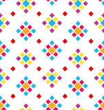 Seamless Geometric Texture with Colorful Rhombus, Periodic Background Stock Photography