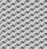 Seamless geometric texture. 3D effect. Royalty Free Stock Image