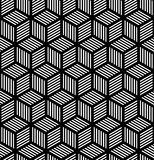 Seamless Geometric Texture In Op Art Design. Stock Images
