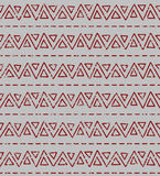 Seamless geometric texture pattern. Seamless shabby etno texture pattern. Repeating geometric tiles from striped triangles Stock Photo