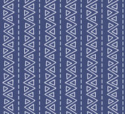 Seamless geometric texture pattern. Seamless vertical etno texture pattern. Repeating geometric tiles from striped triangles Stock Images