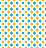 Seamless Geometric Texture with Rhombus and Dots, Funky Contrast Stock Photography