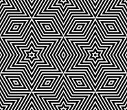 Seamless geometric texture. Stars pattern. Stock Images