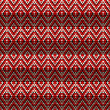 Seamless geometric tile. Seamless geometric pattern in red tones Stock Image
